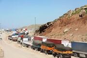 مشکل خروج کامیونهای عراق از محوطه تجاری گمرک مهران رفع شد
