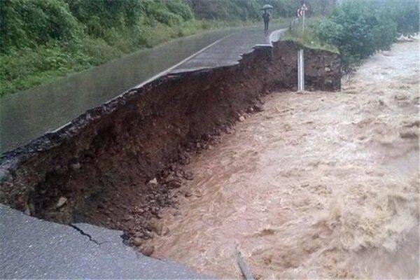 سیلاب به منطقه گردشگری هنزا در کرمان خسارت زد