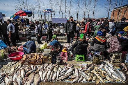 کرکره قدیمی ترین بازار سنتی مازندران بالا می رود