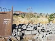 ۱۰۰بنای غیرمجاز در اراضی نارنجستان مشهد تخریب شد