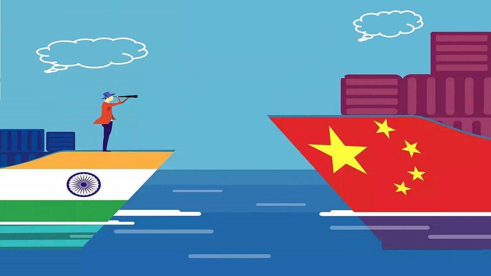 هند و چین رو در روی هم؛ کُشتی میان ۲ رقیب غیر هم وزن!
