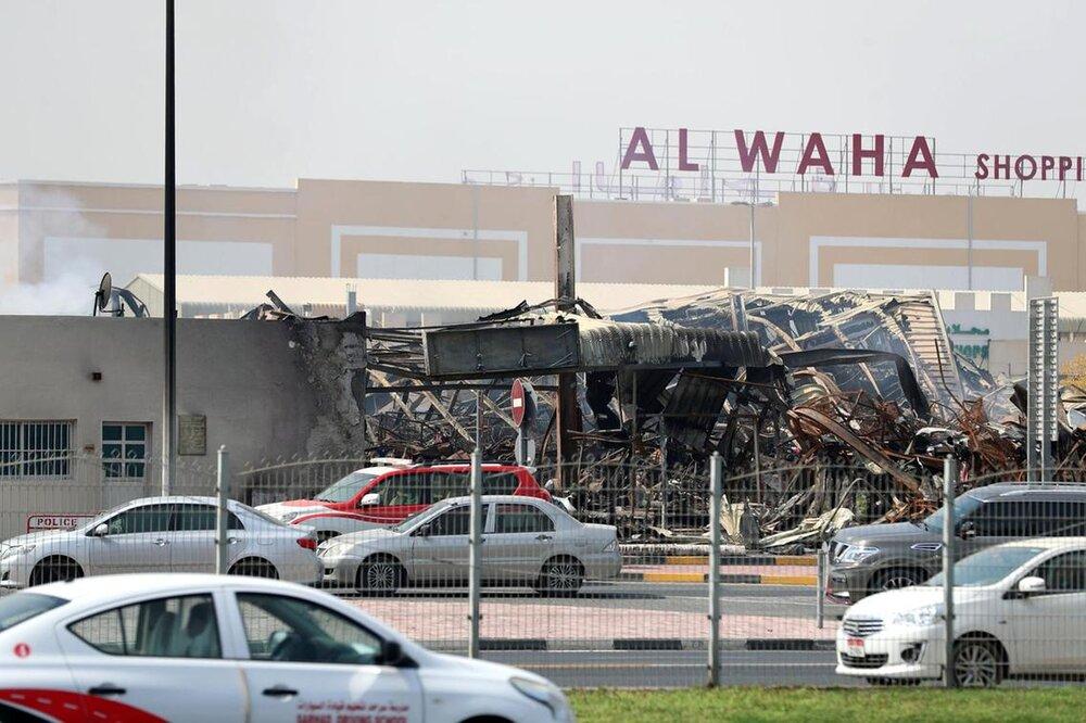 آتش سوزی در بازار عجمان امارات