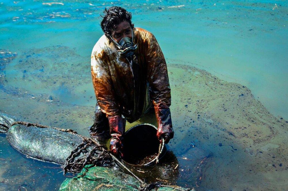 آلودگی نفتی در سواحل جزیره مائوریتیوس