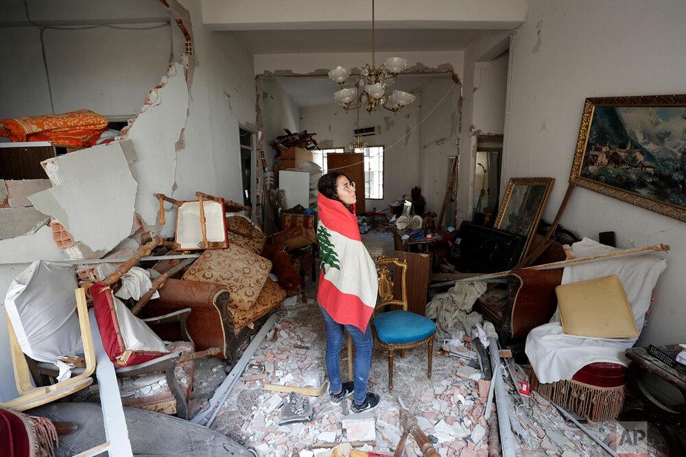خانه های آسیب دیده از انفجار بیروت