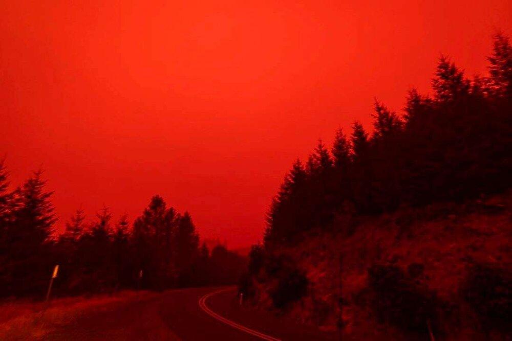 نابودی چند شهر آمریکا در اثر آتش سوزی