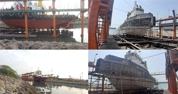الحاق شناور نجف پس از تعمیرات اساسی زیرآبی به ناوگان حمل و نقل دریایی کشور