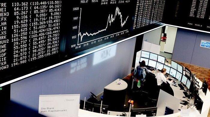 سقوط ارزش سهام در بازار بورس اروپا